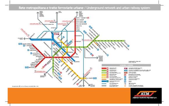 Cartina Metro Milano Pdf.Mappe Atm